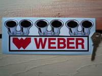 Weber Carburetor Shaped Sticker. 8