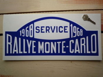 "Monte-Carlo Rallye 1968 Service Rally Plate Sticker. 16""."