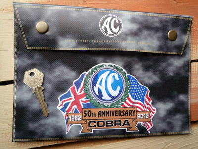 """AC Cobra 50th Anniversary Document  Holder/Toolbag 10"""" or A4"""