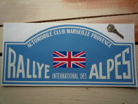 "Rallye International Des Alpes Rally Plate Style Sticker. 6""."