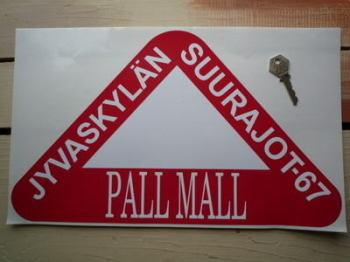 "Jyväskylän Suurajot 1967 Finland Rally Plate Sticker. 15.5""."