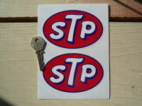 STP Static Cling Oval Stickers. 4.5