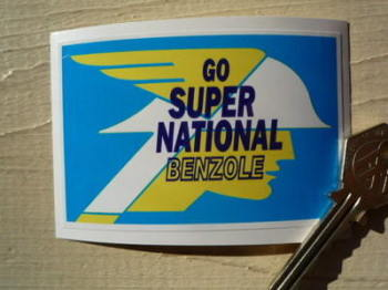 "National Benzole Go Super Static Cling Sticker. 3.5""."