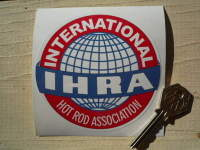 "IHRA International Hot Rod Association Sticker. 4""."