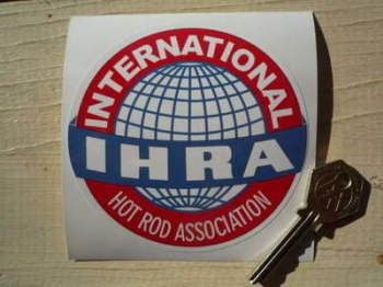 "IHRA International Hot Rod Association Sticker. 4""."