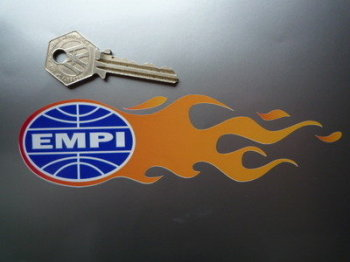 """EMPI Handed Flames Stickers. 6"""" Pair."""