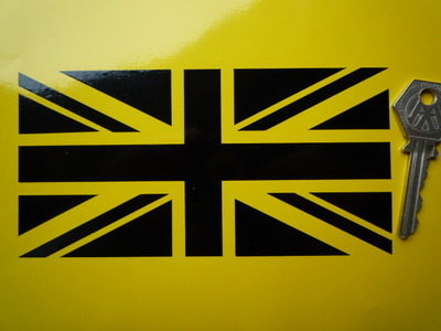Union Jack Black Cut Vinyl Sticker. 6