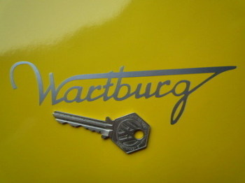 "Wartburg Cut Text Sticker. 6""."