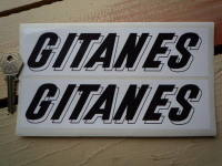 Gitanes French Cigarette Oblong Black & White 3D Text Stickers. 7.5