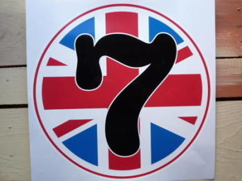 Racing Roundel Union Jack & Printed Number. Various Sizes.