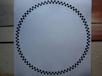 Racing Roundels Chequered. Various Sizes. Black & White. Set of 3.