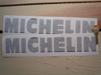 "Michelin Cut Vinyl Compact Text Stickers. 12"" Pair."