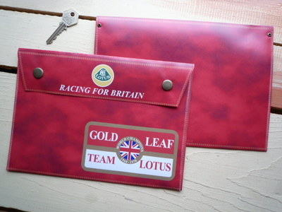 """Lotus Racing For Britain Document Holder/Toolbag 10"""" or A4"""