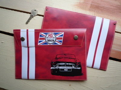 """MG MGB 50th Anniversary Document Holder/Toolbag. 10"""" or A4."""