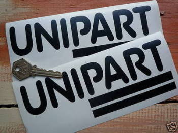 "Unipart Cut Vinyl Stickers. 7"" Pair."