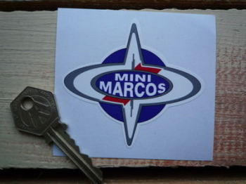 "Mini Marcos Sticker. 3""."