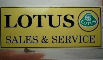 "Lotus Sales & Service Sticker. 23.5""."