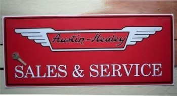 "Austin Healey Sales & Service Sticker. 23.5""."