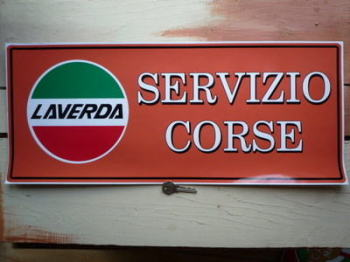 "Laverda Servizio Corse Workshop Sticker. 23.5""."