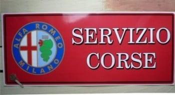 """Alfa Romeo Servizio Corse Workshop Sticker. 23.5""""."""