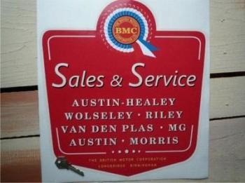 "BMC Sales & Service Sticker. 13""."