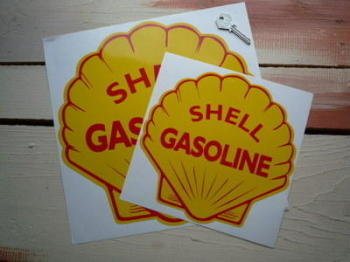 "Shell Gasoline Sticker. 8.5"" or 12""."