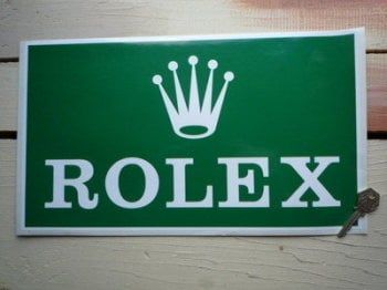 "Rolex Oblong Sponsors Sticker. 15""."