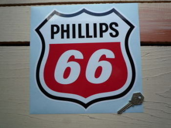 "Phillips 66 Shield Shaped Sticker. 9""."