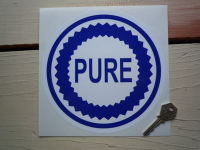 Pure Blue & White Round Sticker. 7.5