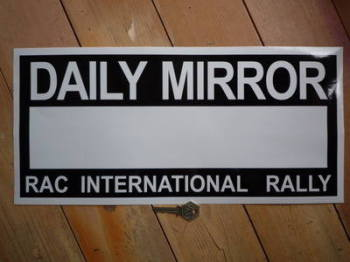 "Daily Mirror RAC Rally Plate Sticker. 17""."