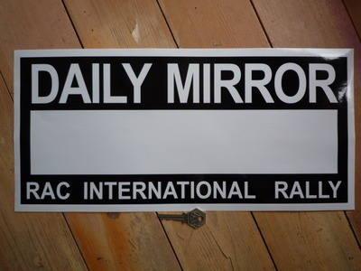 "Daily Mirror RAC Rally Plate Sticker. 17""."