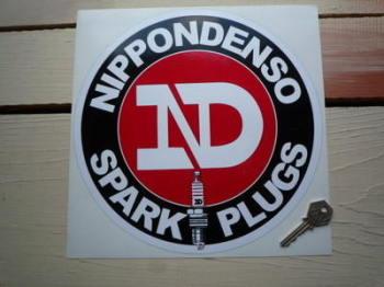 "Nippondenso Spark Plugs Round Sticker. 6""."