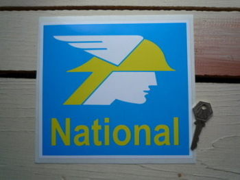"National Benzole Square Sticker. 8""."