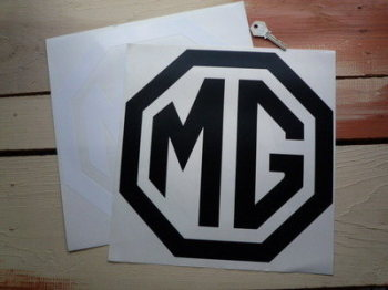 "MG Cut Vinyl Octagon Logo Sticker. 6""."