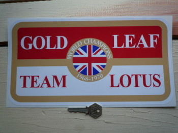 "Gold Leaf Team Lotus Stickers. 12""."