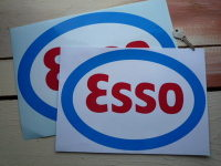 "Esso, Red, White & Blue Oval Sticker. 12"", 14"" or 15""."