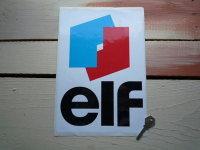 "Elf Classic Style Sticker. 8"" x 12""."
