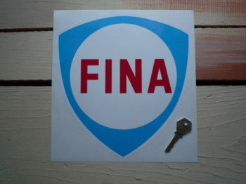 "Fina Blue Shield Sticker. 9""."