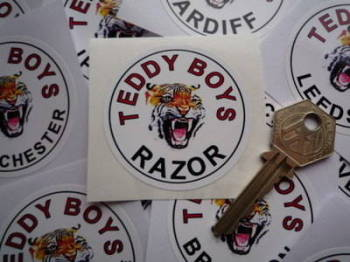 "Teddy Boys Personalised Tiger Sticker. 2""."