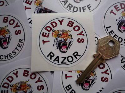 Teddy Boys Personalised Tiger Sticker. 2