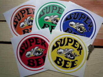 "Dodge Plymouth Super Bee Sticker. 6""."