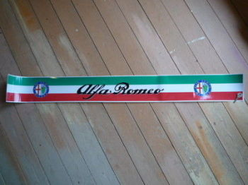 "Alfa Romeo Milano Sunstrip Screentop Decal. 52""."
