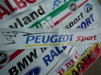 "Peugeot Sport Sunstrip Screentop Visor Decal. 52""."
