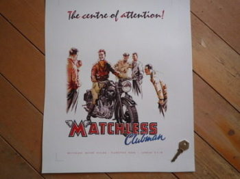 Matchless Clubman Advert Photo Art Print.