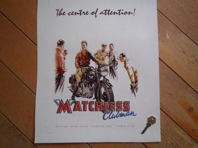 Matchless Clubman Advert Photo Art Print.
