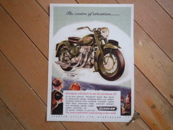 Sunbeam S7 Centre of Attention Advert Photo Art Print.