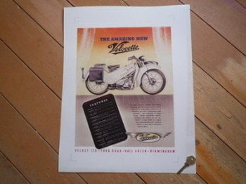 Velocette 'The Amazing New' Advert Photo Art Print.