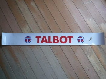 "Talbot Screentop Sunstrip Visor Decal. 52""."