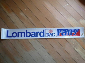 "Lombard RAC Rally Red & Blue Screentop Sunstrip Visor. 52""."