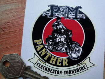 "Panther Phelon & Moore, Cleckheaton - Yorkshire Sticker. 3""."